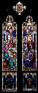 saint johns stained glass the last supper1