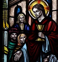 saint johns stained glass the last supper2