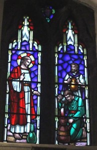 saint johns stained glass the wedding1